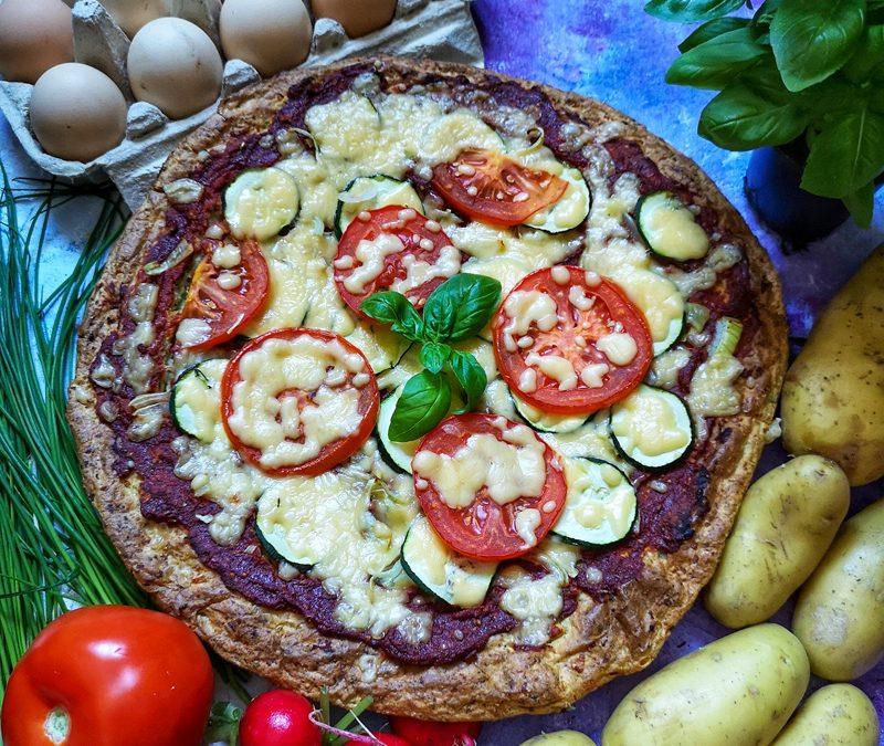 Pizza na ziemniaczano-twarogowym spodzie