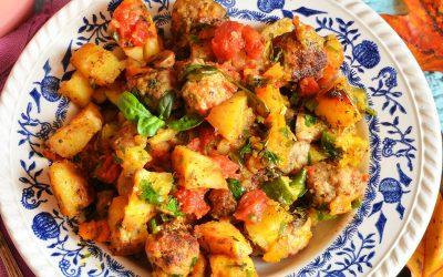 Domowy kociołek z kartoflami