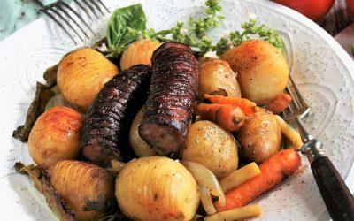 Ziemniaki grillowane z warzywami