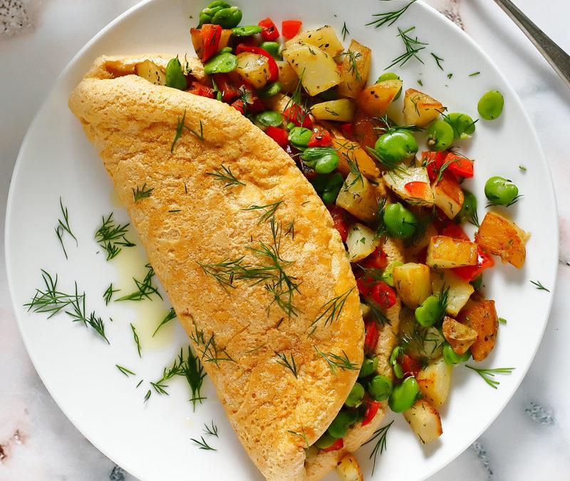Omlet biszkoptowy z warzywami
